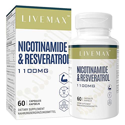 NMN+ Trans Resveratrol Kapseln mit maximaler Stärke - Nahrungsergänzungsmittel mit überlegener Absorption 60 Kapseln - Unterstützt gesundes Altern, NAD-Booster für Zellreparatur & Energie (1 PACK)