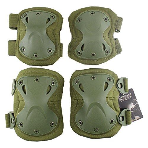 Outdoor ginocchiera gomito tattico militare caccia adulti ultra-safety protezioni Durable Gear CS Field Equipment, Green
