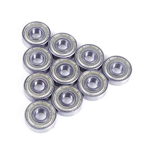 10 rodamientos 608-ZZ 608ZZ 8 x 22 x 7 mm de acero