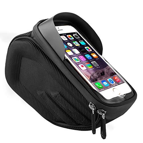 TKHHC Bolsa Manillar para Telefono Bicicleta Bolso Impermeable del Soporte del Teléfono del Tubo del Tubo Superior de la Bici para Smartphone hasta 6',