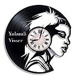 Yolandi Visser Vinyl Record Wall Clock, Yolandi Visser Singer, Die Antwoord Music Band, Yolandi Visser Artwork, Gift, Yolandi Visser Clock, Wall Decor, Music Art, Die Antwoord Artwork