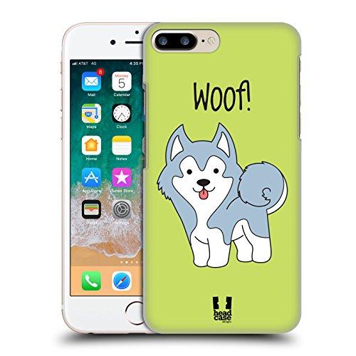 Head Case Designs Husky Cuccioli Felici Cover Dura per Parte Posteriore e Sfondo di Design Abbinato Compatibile con Apple iPhone 7 Plus/iPhone 8 Plus