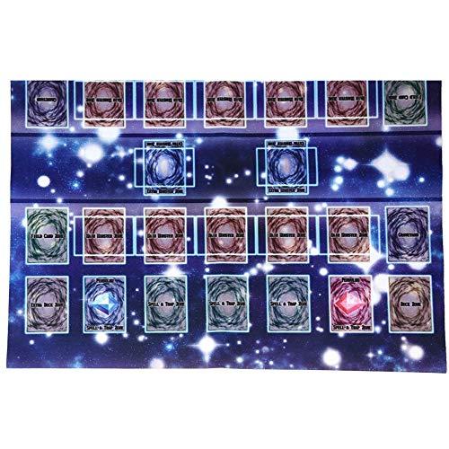 ALIKEEY Juego De Goma Mat 60X60Cm Galaxy Estilo De La Competencia Cojn De Playmate para Yu-Gi-Oh Card Gatos Perro Cuatro Jugadores Carro MuEcas Gemelar
