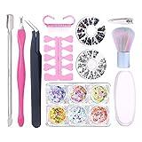 DROHOO 11Pcs / Set Cortador de uñas Clipper Cuticle Pusher Brush Pinzas Remover Kit, Pink