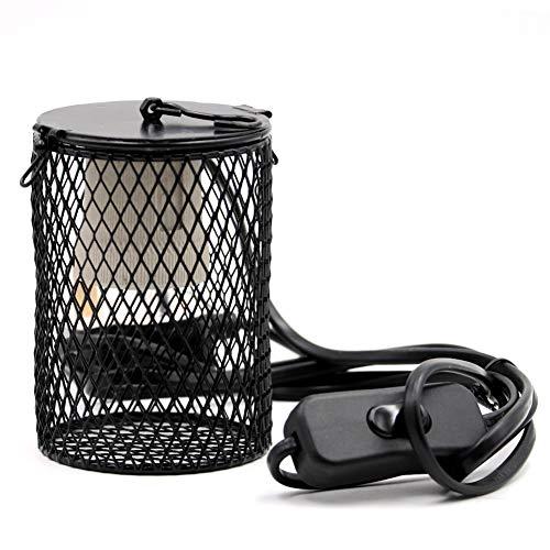 M.Z.A Reptielen Keramische Verwarming Lamp Heater Houder Reptiel Infrarood Warmte Lamphouder Verlichting Infrarood met Schakelaar voor Huisdier Amphibian Snake Lizard Turtle UK Plug