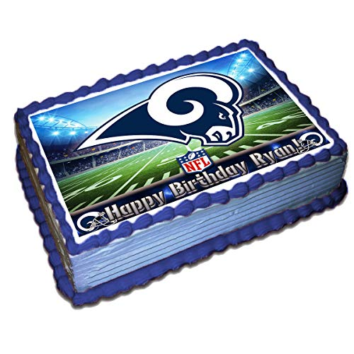 Superb Los Angeles Rams Nfl Personalized Cake Topper Icing Sugar Paper 1 Funny Birthday Cards Online Elaedamsfinfo