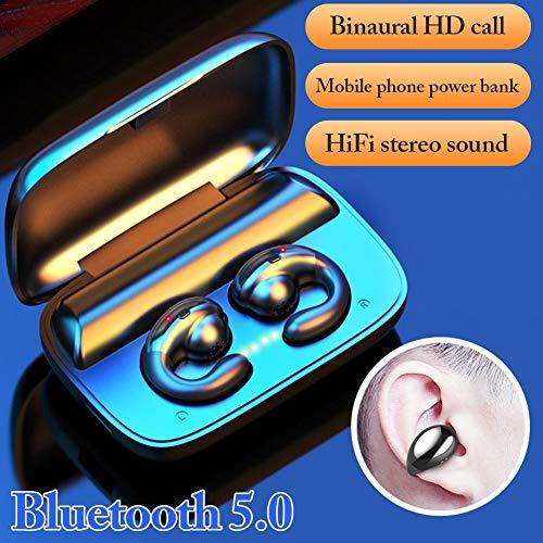 greatdaily Kabellos Knochenleitung Kopfhörer Bluetooth Headset 5.0 Kopfhörer In Ear Mit Ladebox, Wireless Kopfhörer Earbuds Ohrhörer Mit Mikrofon