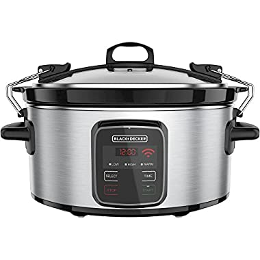 BLACK+DECKER Best Programmable Crock Pot 6-Quart Slow Cooker with WiFi-Enabled