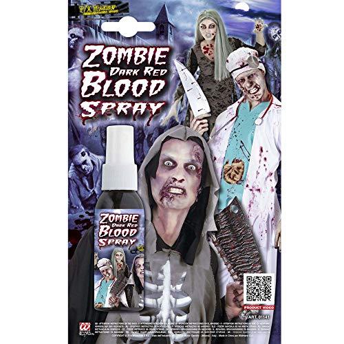 Widmann vd-wdm01141 Spray Sang Zombie, rouge foncé, 48 ml