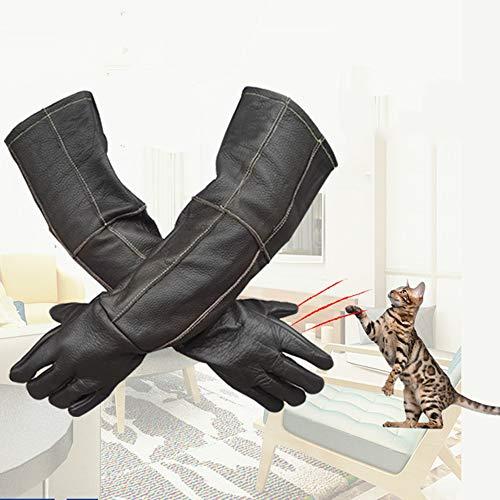 QHGao dieren vangen bijten handschoenen, delicate naaien, anti-kat vangen vos Eagle hond bijten handschoenen kat en hond krokodil vos eekhoorn, beschermen zichzelf, voorkomen krabben en anti-infectie