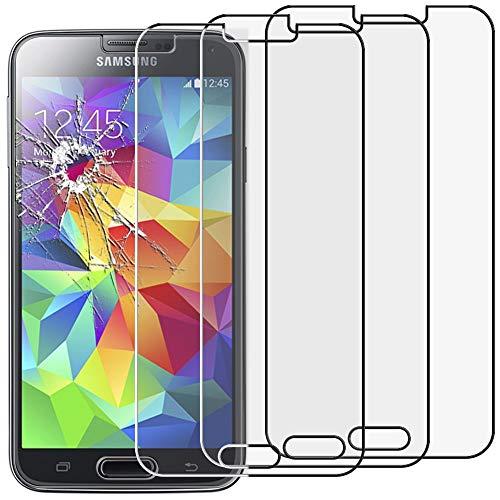 ebestStar - [Lote x3 Cristal Templado Compatible con Samsung S5 G900F, Galaxy S5 New G903F Neo Protector Pantalla, Película Vidrio Protectora Dureza 9H, Sin-Burbujas [Aparato: 142x72.5x8.1mm 5.1']