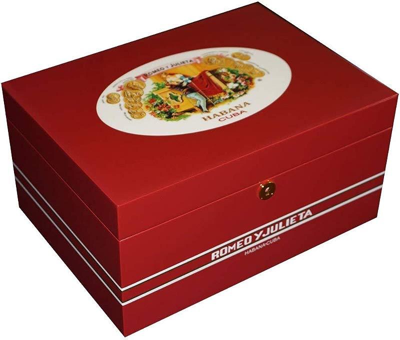 Illustrious Collection Romeo Y Julieta Romeo Juliet Cigar Humidor 100 Cigars Limited Edition 13 1 2 X 9 1 2 X 61 2