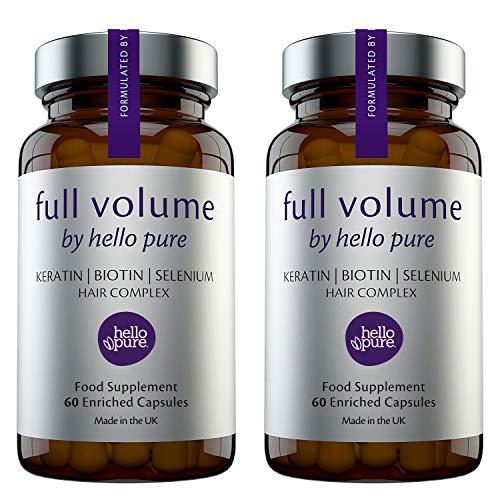 Hair Growth Vitamins For Women & Men – Biotin (Vitamin B7) Supplement Capsules + Keratin Selenium – Strengthen Hair & Nails, Healthier Skin & Immune System Support (Pack of 2)