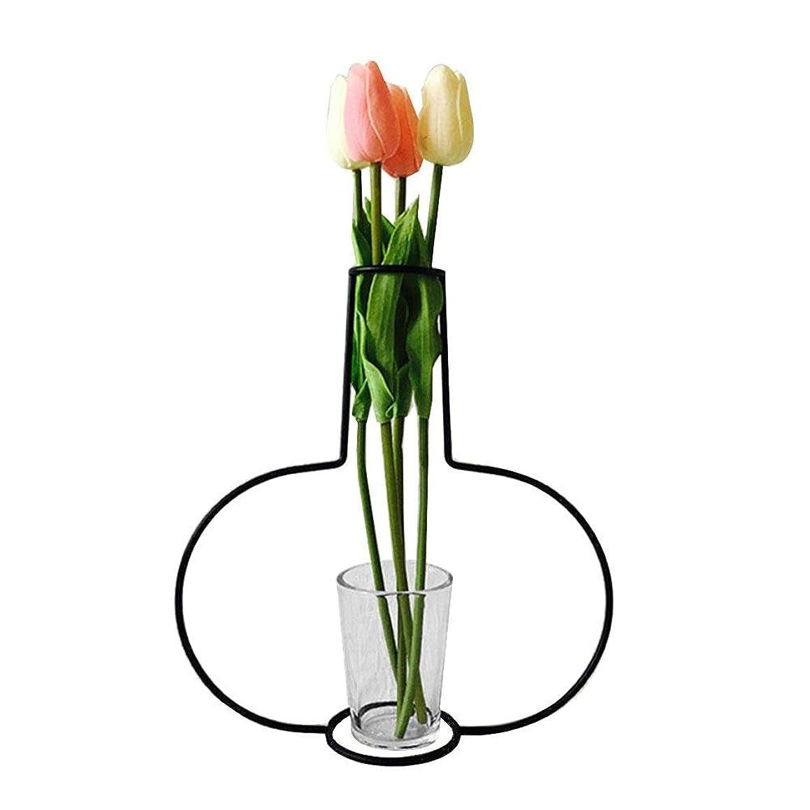 うがい花に水をやるチャンピオンシップJicorzo - グローブフェアリーミニチュアガーデン装飾アイアンアートクラフトシンプルバルコニーフラワーポットスタンドヴィンテージ家の庭の装飾アクセサリー[G10]