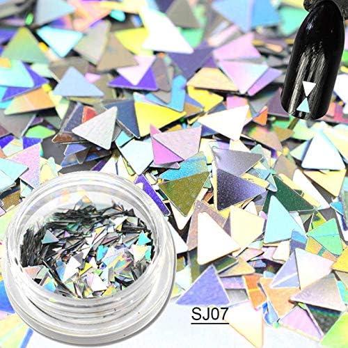 Gabcus New 1g Bottle Triangle Laser 3D Thin Ranking TOP17 Mini Max 53% OFF Sequin Glitter