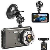 Grotic Effort Night Vision Dual Dash Car Camera Front & Rear