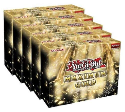 Yugioh Maximum Gold Trading Cards Display Booster Box - 20 Booster Packs