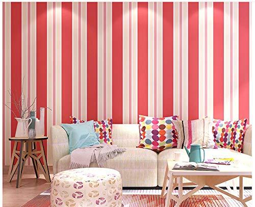 Tapeten-moderne minimalistische rote Streifen-Vliestapeten-Rolle für Inneneinrichtung Hotelbüro-Wohnzimmer-Küche