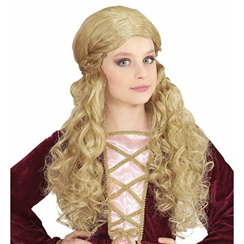 Widmann - Perruque médiévale longue blonde adulte