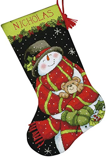 Dimensions Crafts Needlepoint Stocking Kit, Snowman and Bear
