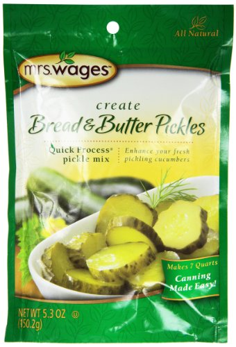 Mrs Wages Bread and Butter Pickles Quick Process Mix (VALUE PACK of 6)