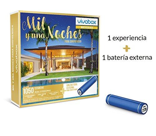 VIVABOX Caja Regalo -MIL & UNA Noches para SOPRENDER- 1.050 estancias. Incluye: batería Externa Smartphone