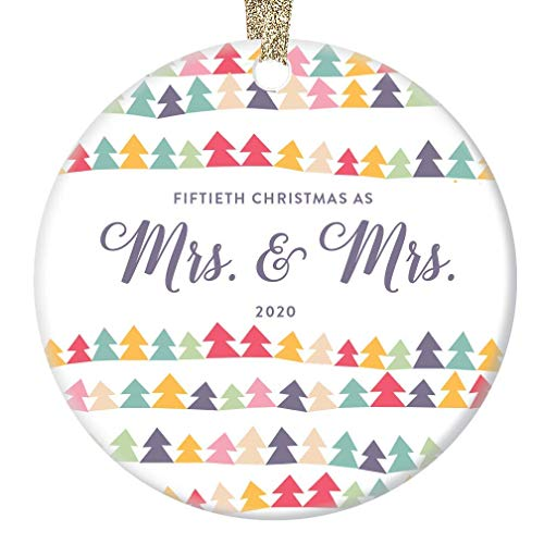 50th Christmas as Mrs & Mrs Anniversary Keepsake Ornament