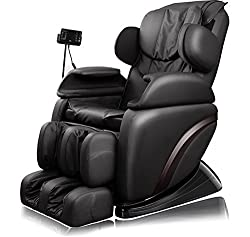Electric Massage Chair, CRAVOG Adjustable Medical Massage Chair for Relax with Transport Castors, Color Choice (Black)