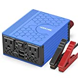 VOLTCUBE 150W Car Power Inverter 12V DC to 110V AC Converter with 3.1A Dual USB Car Adapter