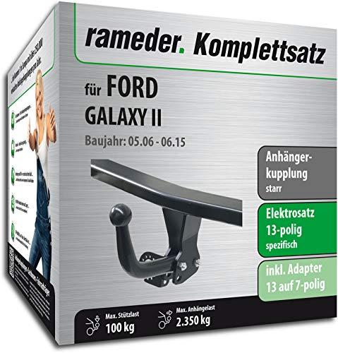 Rameder Komplettsatz, Anhängerkupplung starr + 13pol Elektrik für Ford Galaxy II (113931-05541-1)