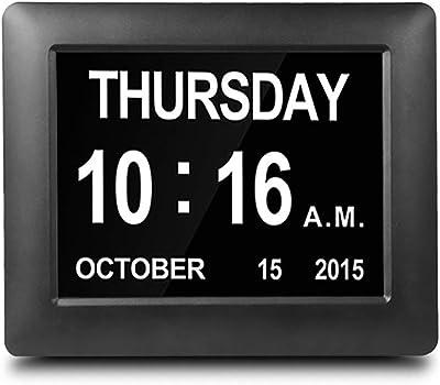 Calendario Elettronico.Omlter Orologio Da Giorno Con Calendario Elettronico Di