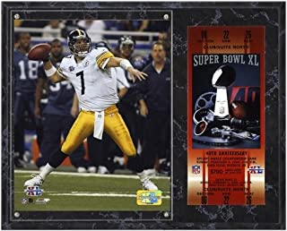 Ben Roethlisberger Pittsburgh Steelers Super Bowl XL Plaque with Replica Ticket - NFL Player Plaques and Collages