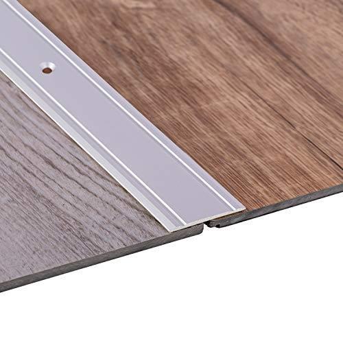 Gedotec Perfil de Transición SUPERFLACH - 30x1000 mm Barras Recubrimiento Universal para Suelo, Baldosas, Parquet y Piso - Superficie Anodizada de Plata con Barras Planas para Perforación Fácil