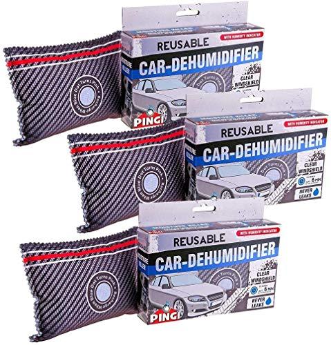 3 x Auto-Entfeuchter wiederaufladbar, mit Feuchtigkeits-Indikator