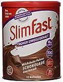 SlimFast Milchshake Pulver Schokolade I Kalorienreduzierter Diät-Shake mit hohem Eiweißanteil I...
