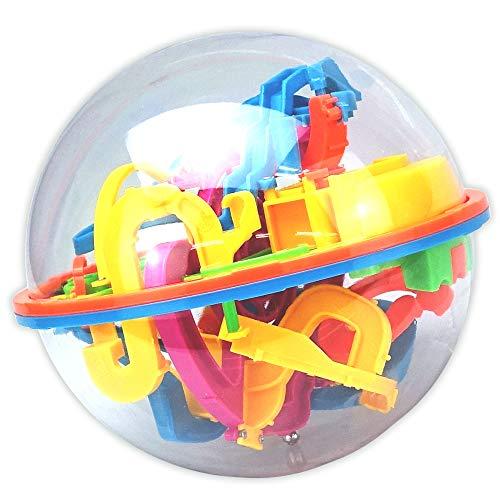 TSfactory 3D立体パズル 迷路ボール 想像力 集中力 バランスゲーム おもちゃ (138関門)