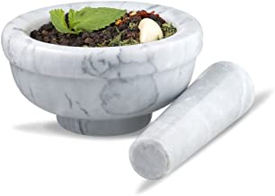 Sagler mortar and pestle, 4.5, marble
