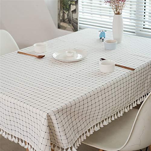 LIUJIU El mantel de viniloEl mantel de PVC puede limpiar picnic interior/exterior, barbacoas y cubiertas de mesa, 140 x 250 cm