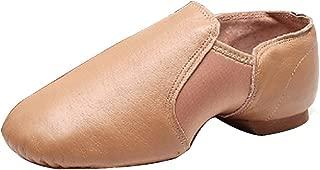 Fulision Adult-Unisex Leather Split-Sole Jazz Dance Practice Low-Top Shoes