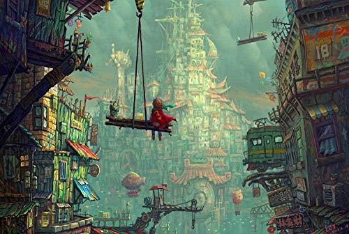 Bosque de la casa Abstracta 1000 Piezas Puzzle Juego de Rompecabezas Rompecabezas para niñosAdultos Puzzle Animal paisajes Clásico Puzzle Navidad Halloween Juegos Puzzle Juguete Divertido