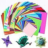 MSYOU - 200 unidades de colores cuadrados de origami, multicolor origami para niños a mano, 50 colores