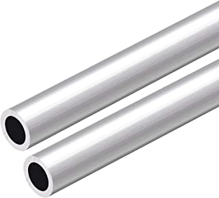 uxcell 6063 Aluminum Round Tube 300mm Length 12mm OD 8mm ID Seamless Aluminum Straight Tubing 2 Pcs