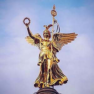 Berligram – Fine Art Fotografie aus Berlin, Goldelse auf der Siegessäule, Foto auf Holz, 10x10cm