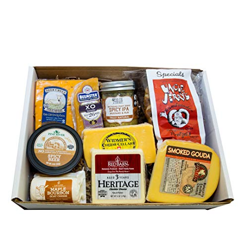 Classic Provisions Artisan Cheese Box – Beer Lovers, Cheese, Cheese Board, Cheese Gift Baskets, Holiday Gift, Appetizers, Cheese Platter, Gourmet Cheeses, Cheddar Cheese, Colb , Gouda