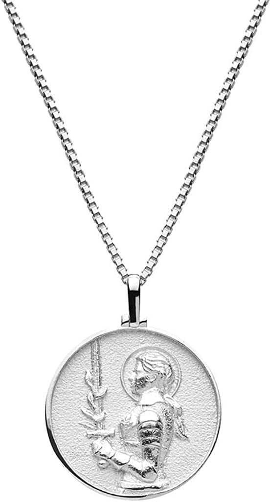 Directly managed store Awe Inspired Dedication Joan of Arc Box Chain Necklace - Silver