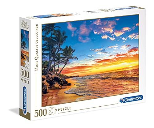 Clementoni - 35058 - High Quality Collection Puzzle - Paradise Beach - 500 Pezzi