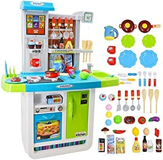 deAO My Little Chef Kitchen Playset Role Playing Game with Touchscreen Panel, Water..