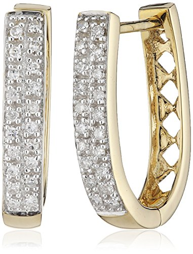 Diamonds by Ellen K. Damen Creolen 14 Karat 585 Gold gelb 40 Diamanten 0,20 ct 317310009-1