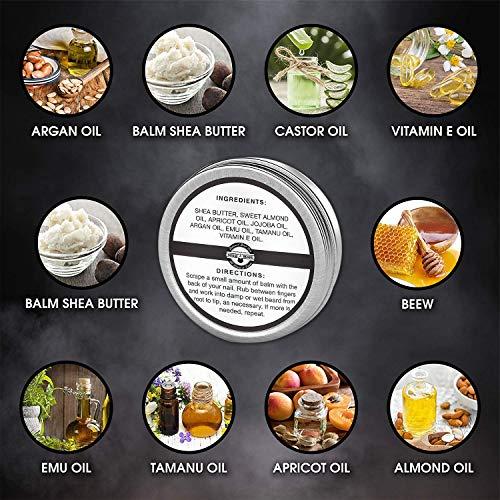 Beard Balm For Men Moisturizer 2oz | Leave-in Beard Conditioner & Hair Softener | Beard Butter & Mustache Grooming Great For Smooth & Styling | Organic Beard Wax With Argan & Jojoba Oils, Citrus Scent
