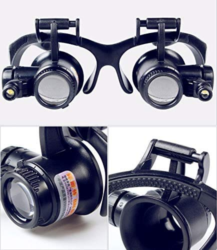 2.5X 4X 6X 8X 10X 15X 20X 25X Multi-Power Double LED Lights Magnifier...